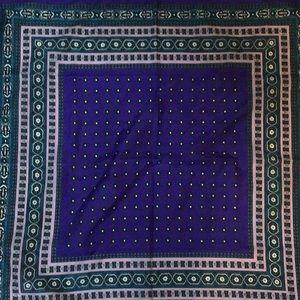 Vintage Purple and Teal Silk Scarf